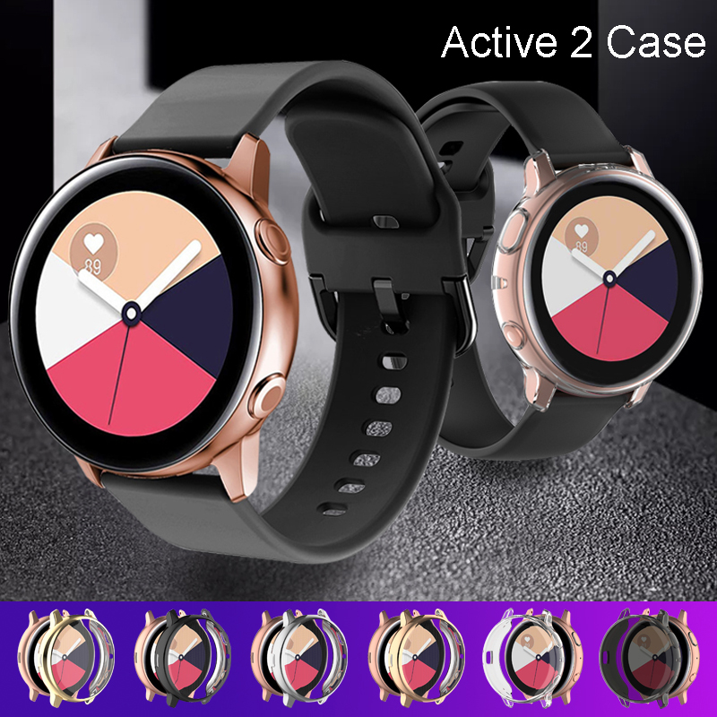 Active 2 case For Samsung galaxy watch active 2 44mm bumper full TPU silicone Screen Protection cover Galaxy watch case 40mm 44