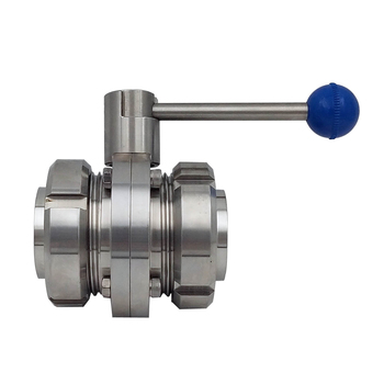SS304 Butterfly Valve Set S-type Male Thread Sanitary Butterfly Valve Set Manual Butterfly Valve 25mm-108mm фото