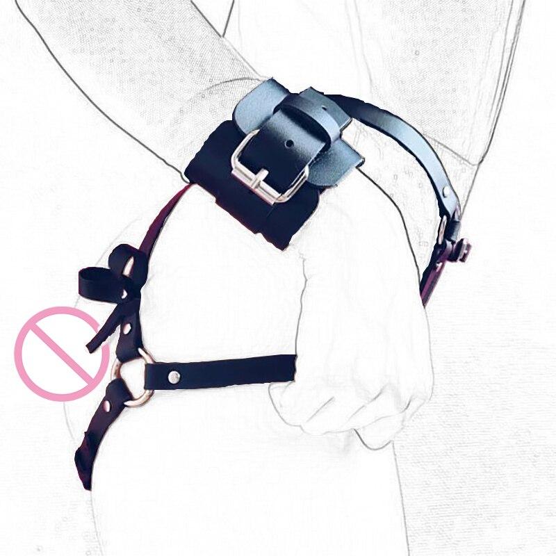 Neue Leder Bein Strumpf Körper Strap Harness Gürtel Braut Strumpfbänder Körper Taille Bondage Käfig Sexy Erotische Strumpfband Strumpf Dessous