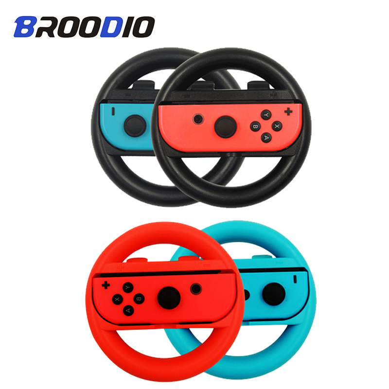 2PCS Nintendo Switch NS Steering Wheel For Nintend Switch Joy Con Controller Accesorios PC Game Racing Steering Wheel Controller image