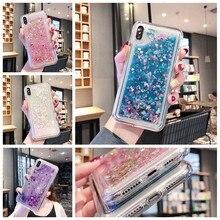 Glitter liquid quicksand mobile phone case for redmi note 7 6 5 Pro note5A 6A 4 S2 4A 4X 5Pus phone back case funda coque(China)