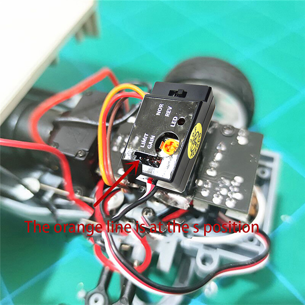 For WPL D12 Truck Drift Flat Running RC Car Auxiliary Modification R484 Gyro Set
