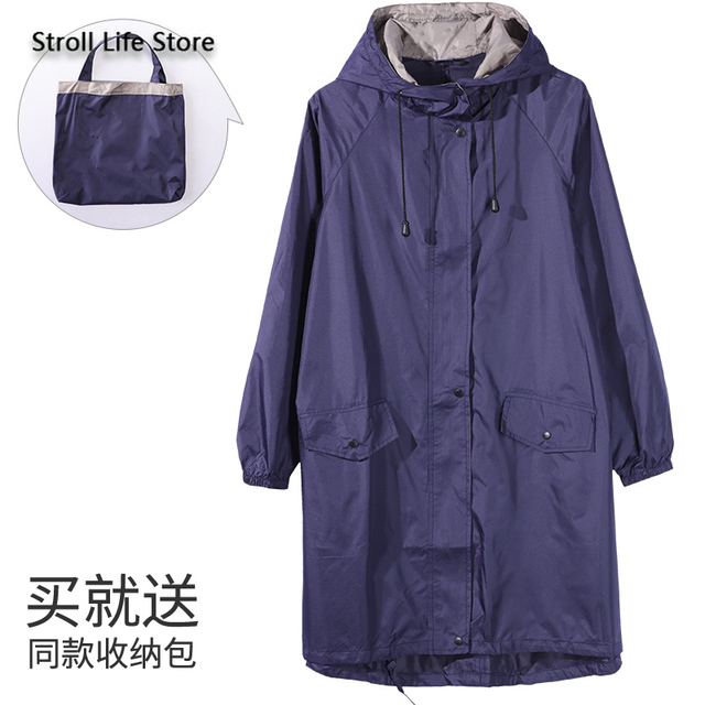 Japanese Windbreaker Riancoat Women Waterproof Jacket  Long Rain Coat Poncho Travel Hiking Rainwear Capa De Chuva Gift Ideas 3