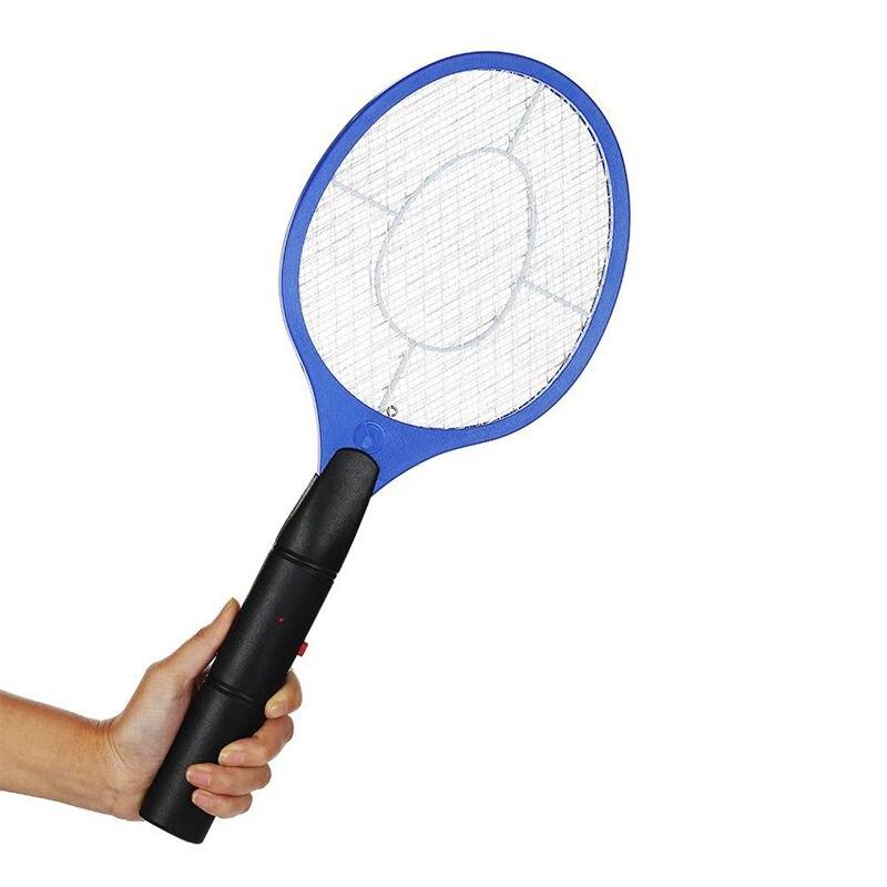 Ev ve Bahçe'ten Sinek kovucu lamba'de Pille çalışan el raketi elektrikli sineklik böcek ev bahçe haşere böcek sinek sineklik Killer title=