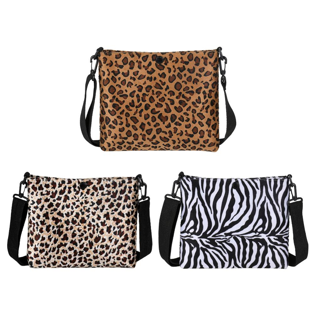 Fashion Winter Leopard Zebra Bags for Women 2019 Pattern Velvet Crossbody Female Messenger Shoulder Handbag Excellent Quality in Top Handle Bags from Luggage Bags