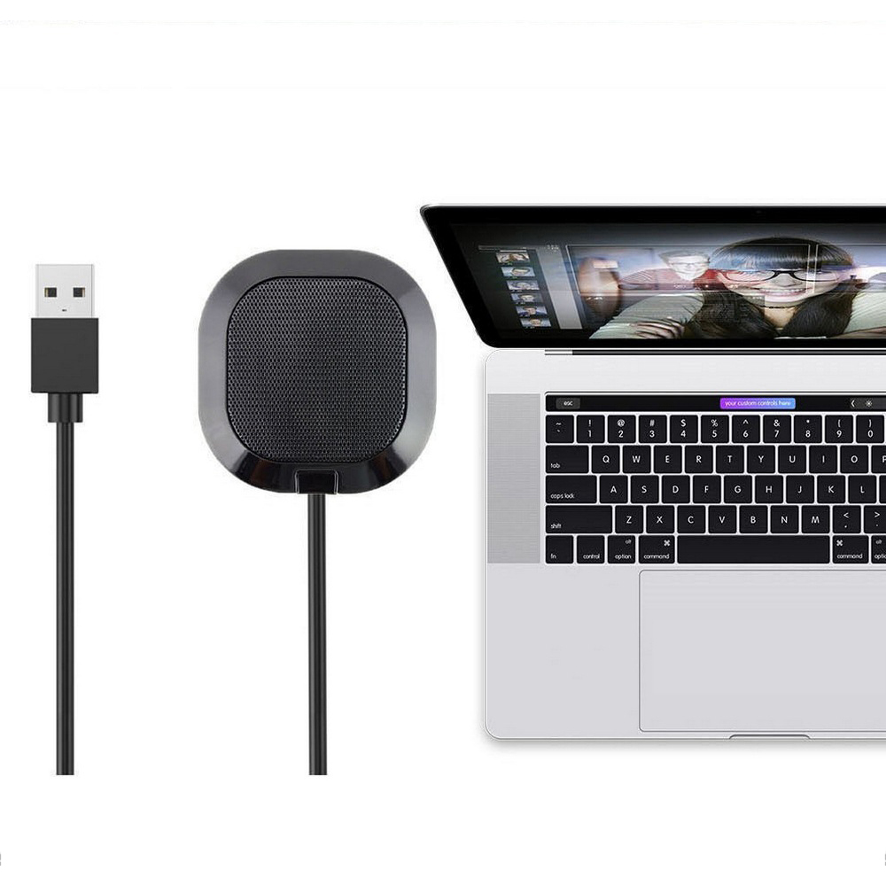 USB Video Microphone 5.5V Mini Mic Computer Laptop Mobile Phone Omnidirectional Microphone Audio Equipment Amplifier Conference