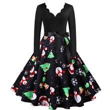 Рождественское платье для женщин на осень и зиму новинка женское