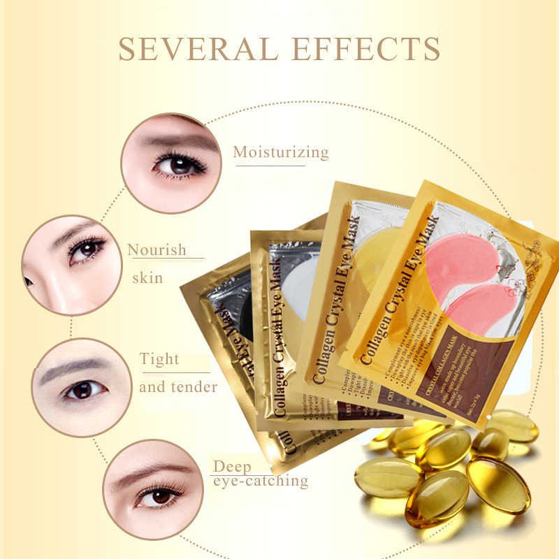 Masque pour les yeux en cristal de collagène masque Facial Gel patchs pour les yeux pour les sacs pour les yeux rides cernes coussinets pour les yeux visage soins de la peau TSLM1