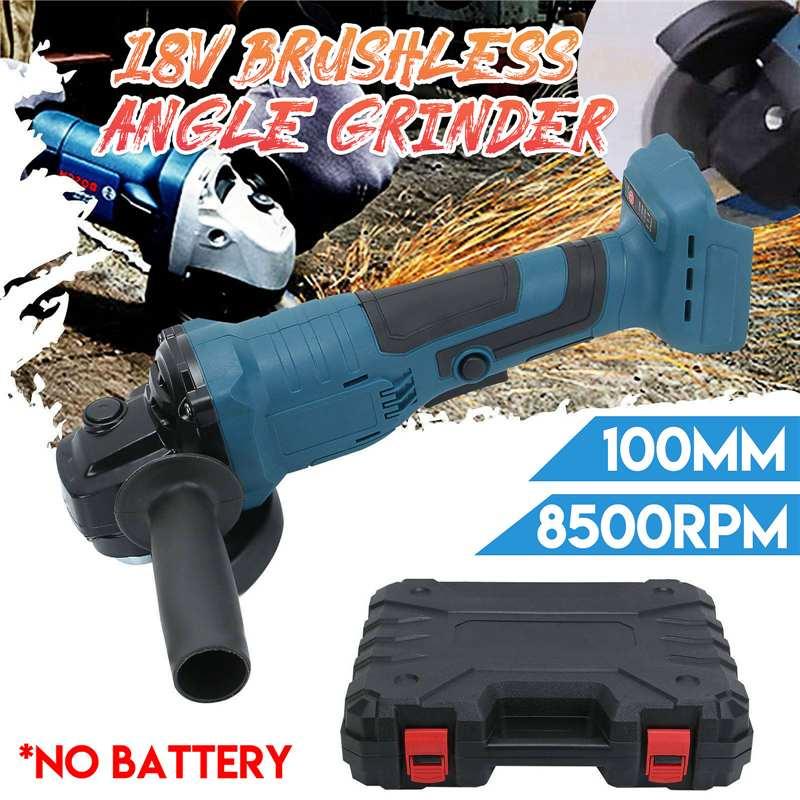 18V 100mm Brushless Impact Angle Grinder Polishing Cordless Cutting Machine Sanding Tool Without Battery For Makita BL1840/50/60