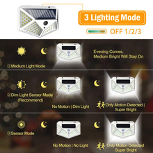 2020 New 100 LED Solar light Bulb Wall Light PIR Motion Sensor Waterproof Outdoor Lighting Garden Lamp Decoration Porch Lights