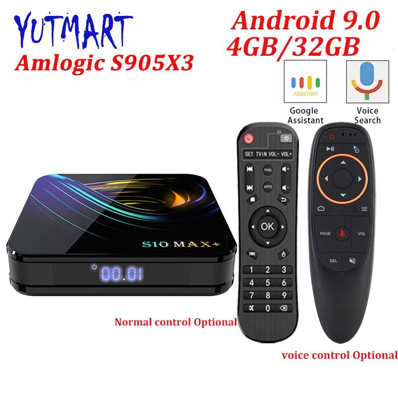 S10 MAX PLUS 4GB 32GB Android 9.0 TV BOX Amlogic S905X3 4K 5G Wifi BT4.0 Netflix Set top Box Media Player Smart TV BOX VS X96
