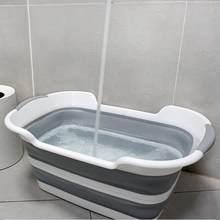Chuveiro de bebê protable banheira de banho dobrável banheira de chuveiro de bebê com dreno pet banheira de segurança banho acessórios cesta de armazenamento