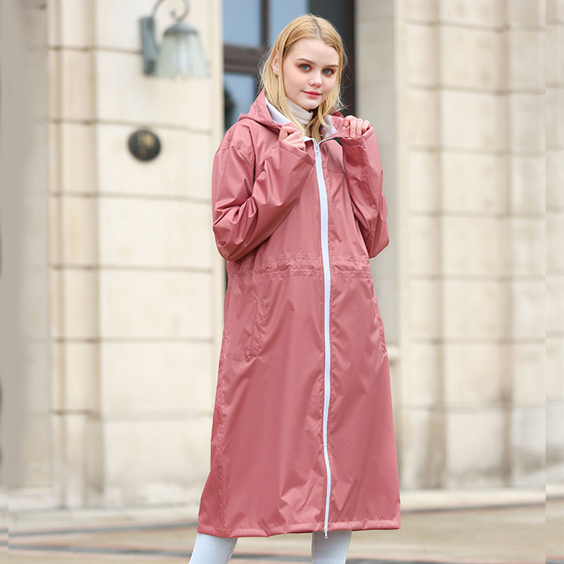 Yuding Hooded Women Raincoat Lightweight Portable Man/Woman Rain Coat Impermeable Trench Unisex Rain Poncho for /Touring/Cycling