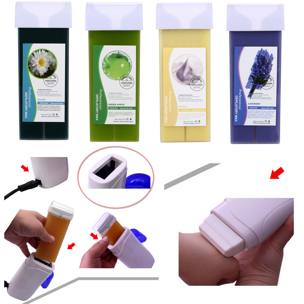100g Depilatory Wax Cartridge Hair Removal Cream Roll-On Hot Hair Removal For Women And Men Dropshipping YJJ2