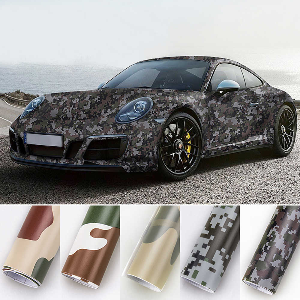LEEPEE 3D 자동차 스티커 보호 디지털 우드랜드 녹색 사막 카모 자동차 랩 필름 자동차 스타일링 위장 비닐 PVC 20cm * 152cm