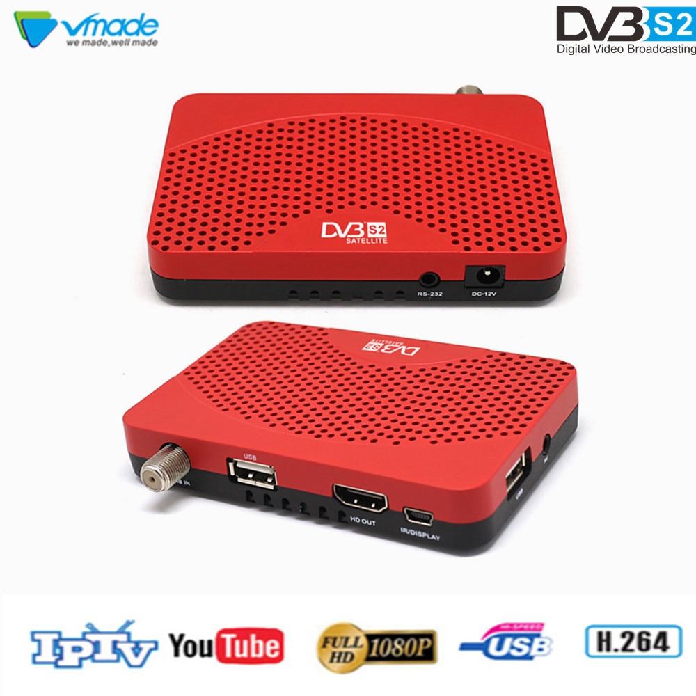 Vmade DVB S2 MiNi Satellite Receiver HD Digital TV Tuner Support WiFi 3G IPTV CS Youtube Newcam DVB S2 TV Set Top Box-in Satellite TV Receiver from Consumer Electronics