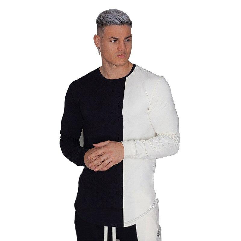 Men 39 s cotton T shirt men 39 s casual T shirt long sleeved shirt men 39 s brand T shirt male jogger bodybuilding fitness T shirt in T Shirts from Men 39 s Clothing