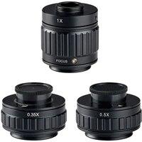 0.5X 1X 0.35X Microscope C Interface Adjustable Focus Amscope SZM Stereo Microscope Accessories