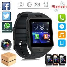 Smartwatch DZ09 Smart Watch Support TF SIM Camera Men Sport Bluetooth Wristwatch FOR IOS Android with i7 TWS Wireless Earphone