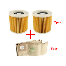 Replacement Dust Filter Bag for Karcher WD3.200 WD3300 MV3 Vacuum Cleaner Spare Parts Accessories Hepa Filters Dust Bags