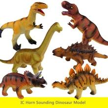 IC Vinyl Sounding Dinosaur Model Simulation plastic dinosaur model toy Children's educational toys Simulation dinosaur toy plesiosaur model plastic doll simulation dinosaur hand model toy