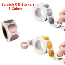 3 Colors 300pcs Round Silver Rose Gold Scratch Off Labels Stickers 1 Inch for Party Activity Gift Business Stationery Sticker