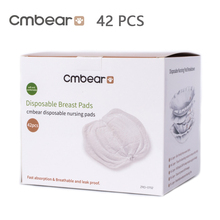 Cmbear 42 PCS/lot Cotton Disposable Breast Nursing Pads Breathable Super Absorbency Maternity Pads Breast Pads Disposable philips avent 108pcs ultra soft disposable breathable anti spill leak proof breast multilayer structure cotton nursing pads