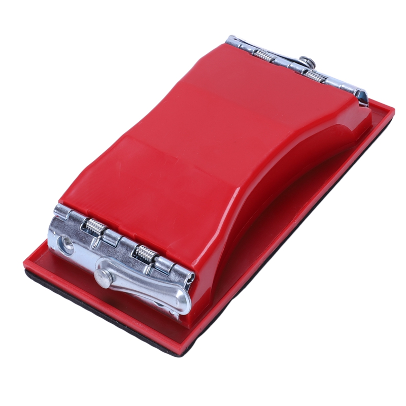 Rectangle Paper Grit Sandpaper Holder Hand Sander Red Black