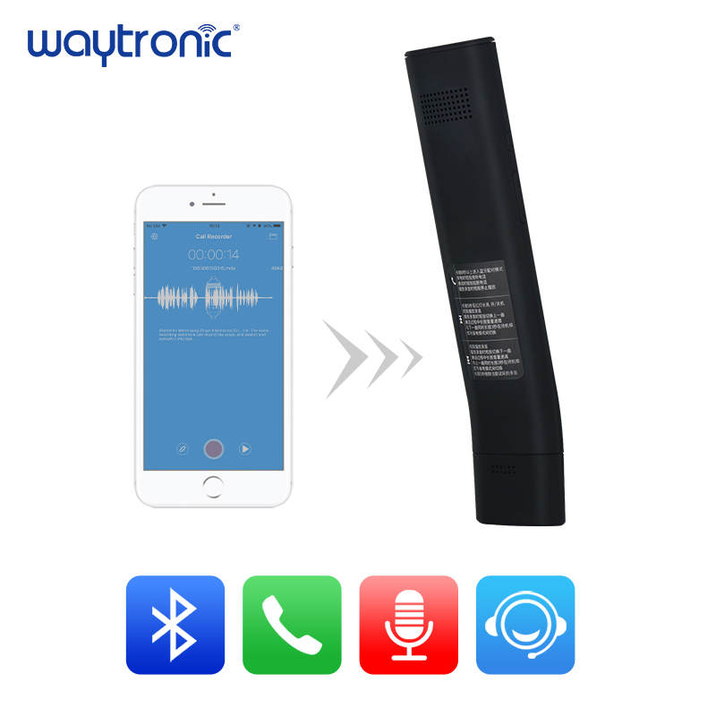 Portátil Sem Fio Bluetooth Chamada Móvel Recorder Receiver Auto Resposta e Gravar para o iphone Gravação de Conversa Telefônica