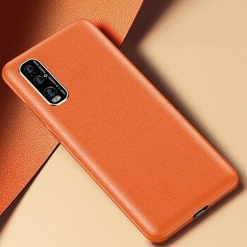 Перейти на Алиэкспресс и купить Для OPPO Find X2 Pro Чехол из искусственной кожи матовый Силиконовый противоударный чехол-бампер для телефона для Find X2 мягкий чехол-накладка из ТП...