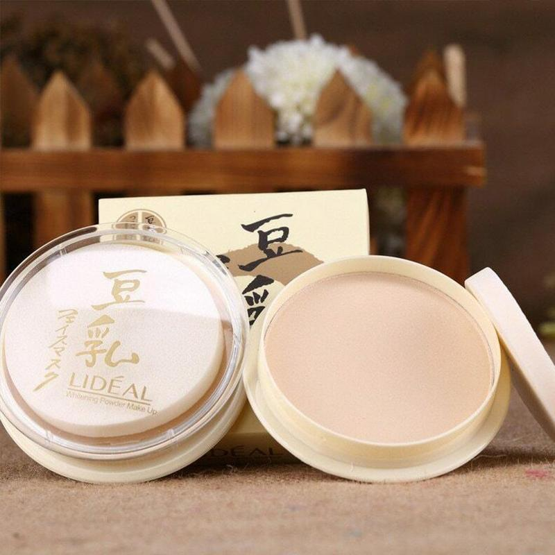 Japanese Transparent Face Pressed Powder Long Lasting Oil Control Face Foundation Waterproof Whitening Skin Finish Concealer image