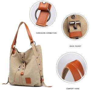 Image 5 - Kobiety płócienna Tote moda torba na ramię torba na ramię Crossbody torebka i torebka Ladys ręce torba dla kobiet dziewczyna 2020 nowy