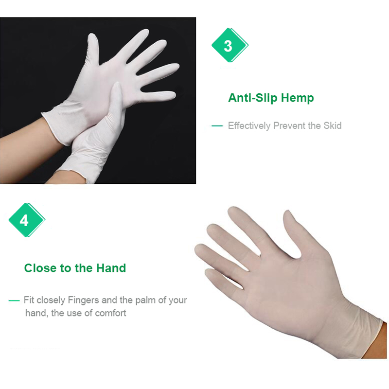Image 4 - 100 pcs thickness disposable nitrile Gloves work glove Food Prep Cooking Gloves / Kitchen Food Service Cleaning Gloves safetySafety Gloves   -