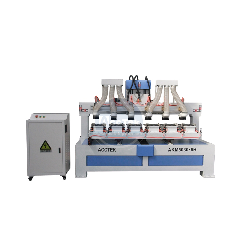 Hot Sales Paddle Machine / High Efficiency 6 Spindle Cnc Router AKM5030-6H