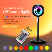 Lámpara Led nocturna de 16 colores para decoración de fondo, proyector de ambiente para foto de sala de estar, funciona con USB, colorida