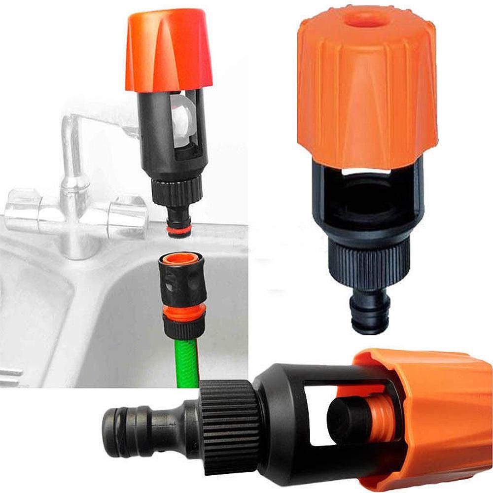Universal Tap Garden Hose Pipe Connector Mixer Kitchen Faucet Adapter Water-saving Device Kitchen Bathroom Supplies Orange#25