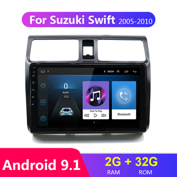 2G+32G 10.1 Car DVD Multimedia Player For 2005 2006 2007 2008 2009 2010 Suzuki Swift 2din Android 9.1 Radio Auto Navigation GPS image