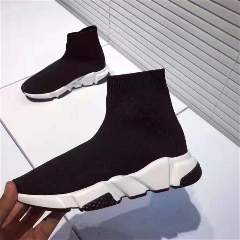 New Paris Speed Trainers Ultra Light Knit Sock Shoe Runner Shoes Sock Triple Trainers Men Women Flyknit Casual Shoes With Box