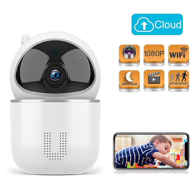 1080P سحابة IP كاميرا مراقبة الطفل ذكي السيارات تتبع مراقبة أمن الوطن اللاسلكية واي فاي CCTV كاميرا مراقبة الطفل