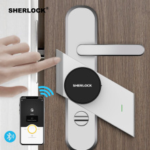 Шерлок S2 умный дверной замок дома замок без ключа отпечатков пальцев+ пароль работы электронный замок Беспроводной приложение