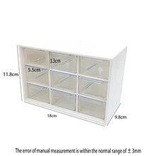 Tipo gaveta translúcido gavetas de armazenamento cn (origem) preço baixo nove-grade caixa de desktop estudante cosméticos prateleira gaveta de fita organizador
