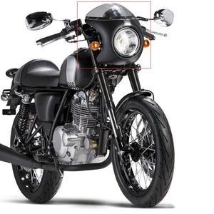 Image 5 - Motosiklet ön far Fairing cam cam plastik evrensel Cafe Racer motosiklet Retro far rüzgar ekran