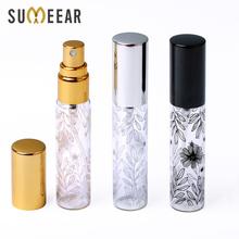 50 sztuk partia 10ml przenośny dekoracyjny wzór szklane butelki perfum z atomizerem puste butelki kosmetyczne Mini wielokrotnego napełniania tanie tanio sumeear CN (pochodzenie) 10 ml Wielokrotnego napełniania butelek YYZ17-LQ-10 Mini Refillable Perfume Bottle Glass bottle