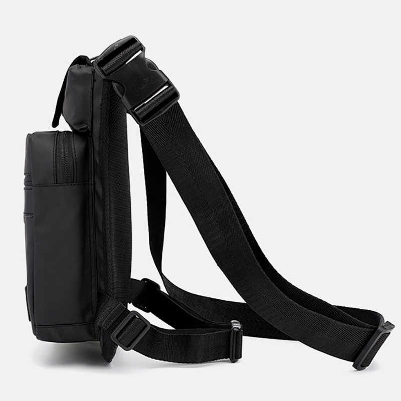 Riñonera de nailon para hombre, mochila para motocicleta, hombro cruzado, cadera para hombre, cintura, muslo