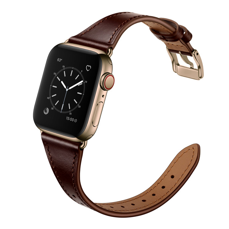 Elegant Genuine Leather Strap For Apple Watch Band 44mm 40mm 42mm 38mm Leather Watchbands For IWatch Series 5/4/3/2/1 Bracelet