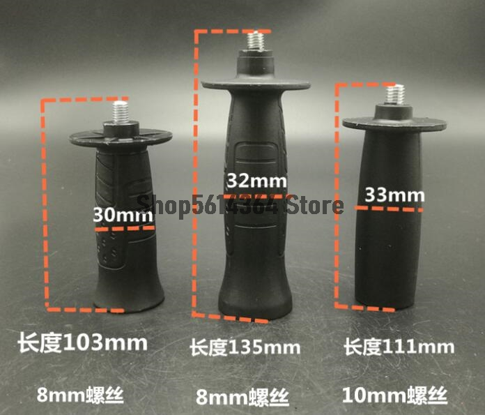 M10 Dia Male Thread Plastic Angle Grinder Sander Handle Tool Black