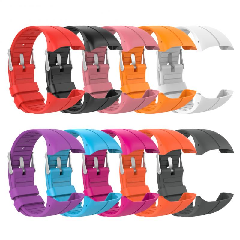 10Colors Solid Simple Watchband Strap For POLAR M400 M430 Smart Watch Strap Silicone Sport Watch band Replacement Bracelet TXTB1(China)