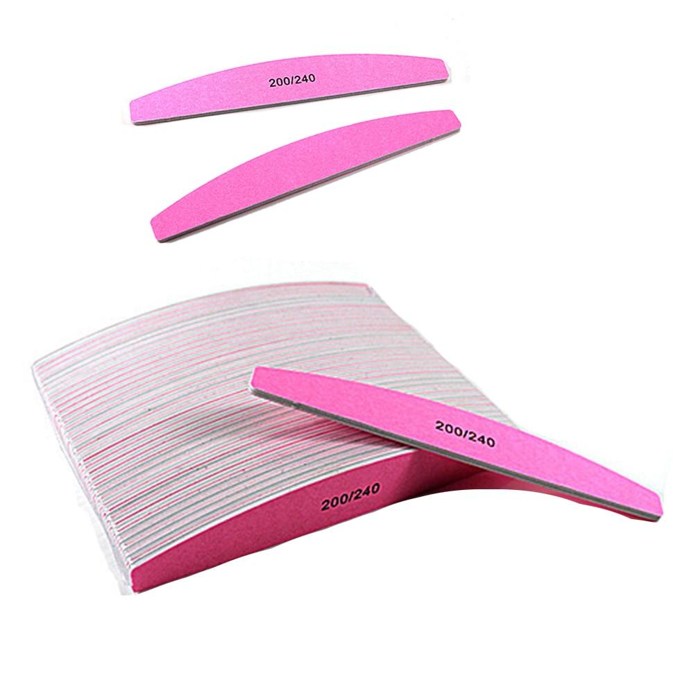 5pcs  Professional Nail File  Half Moon Sandpaper Nail Sanding Blocks Grinding Polishing Manicure Care Tools Nail File