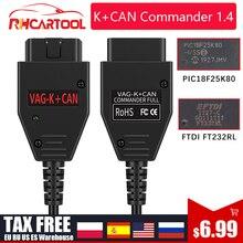 ل VAG K CAN قائد 1.4 FTDI FT232RL PIC18F25K80 OBD2 الماسح الضوئي أداة تشخيص ل VW جولف/بور ل جيتا ل VAG K-line