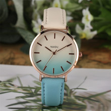 Women Watches Quartz Timepiece Leather Wristwatch Gradient Color Lady Watch Casual Business Female Clock orologio femminile
